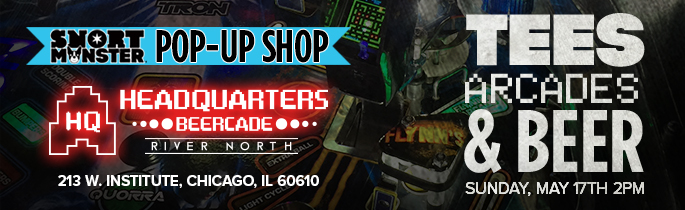 Pop-Up Shop at Headquarters Beercade on May 17th!