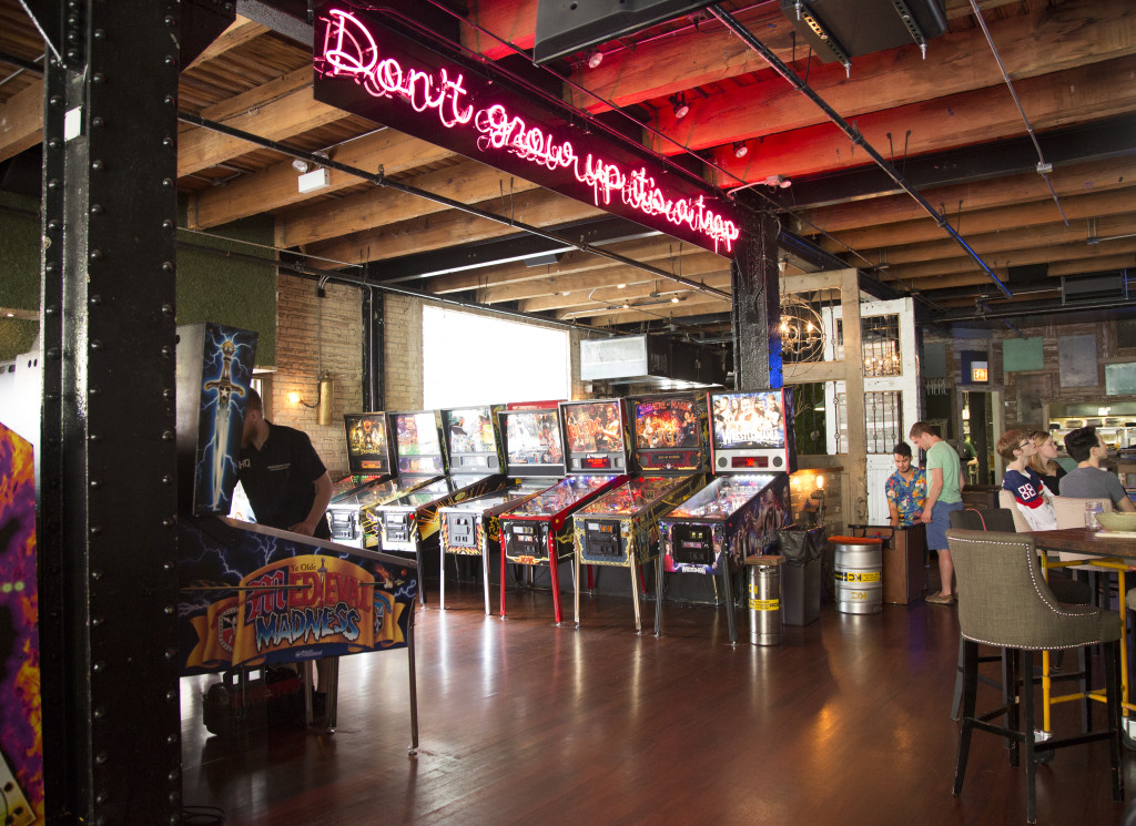 Isn't this the perfect place to play all day? The only thing missing are Snort Monsters running around everywhere! Also, we love that now-classic Headquarters neon sign. Both HQ and Peter Pan have given the world fair warning.