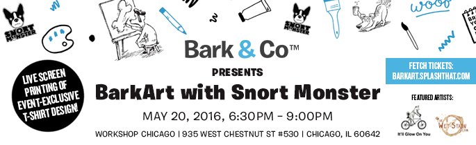 Bark & Co™ presents BarkArt with Snort Monster
